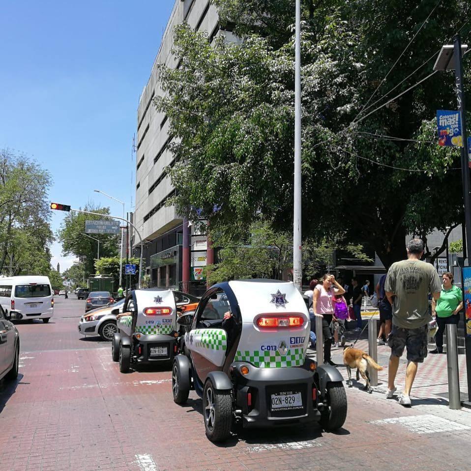 Estacionamientos en la zona de Chapultepec,Guadalajara